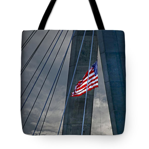 Zakim Bridge Boston Tote Bag by Elena Elisseeva