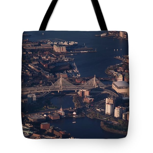 Tote Bag featuring the photograph Zakim Bridge In Context by Rona Black