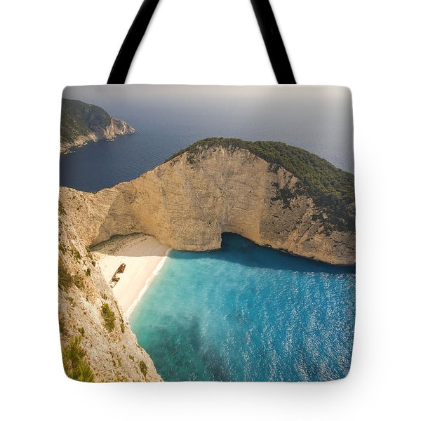Tote Bag featuring the photograph Zakynthos Beach by Juergen Held