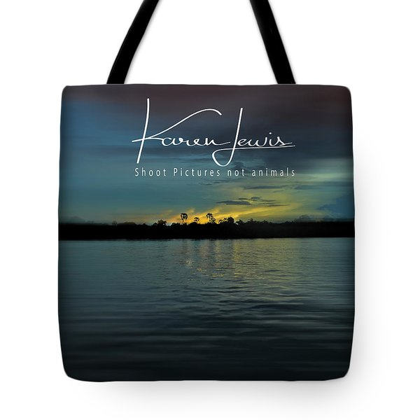 Tote Bag featuring the photograph Zambezi Sunset by Karen Lewis