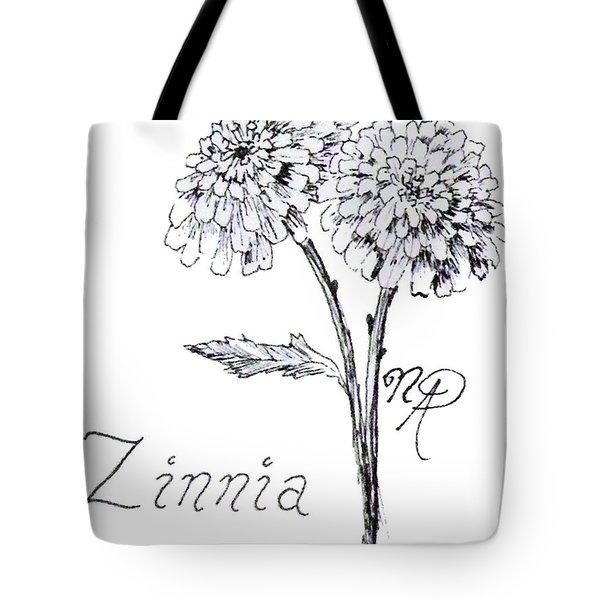 Zannie Zinnia Tote Bag