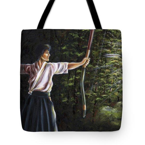 Tote Bag featuring the painting Zanshin by Hiroko Sakai