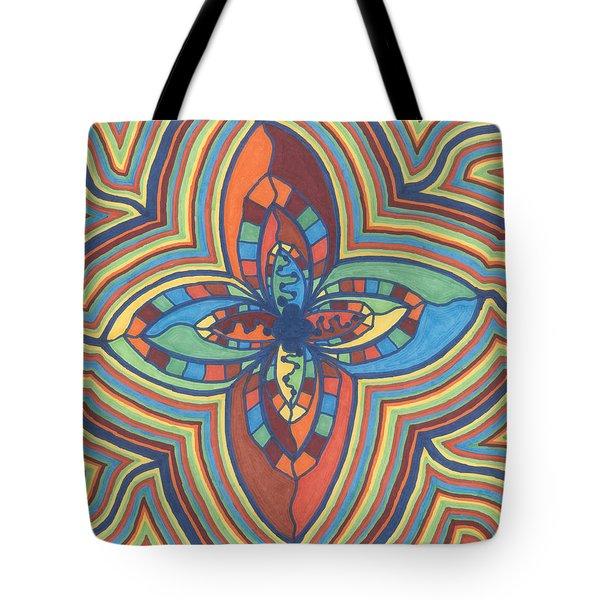 Zany Flower Tote Bag by Jill Lenzmeier