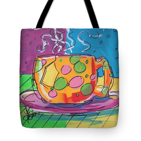 Zany Teacup Tote Bag