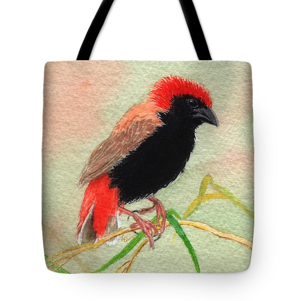 Zanzibar Red Bishop Tote Bag