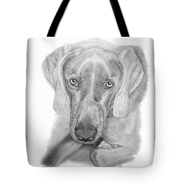 Tote Bag featuring the drawing ZEB by Mike Ivey