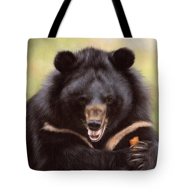 Zebedee Moon Bear - In Support Of Animals Asia Tote Bag by Rachel Stribbling