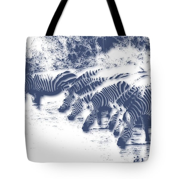 Zebra 3 Tote Bag by Joe Hamilton