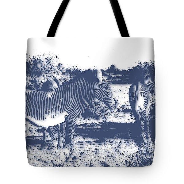 Zebra 4 Tote Bag