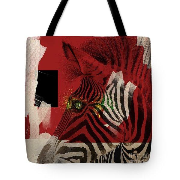Tote Bag featuring the digital art Zebra 4.0 by Nola Lee Kelsey