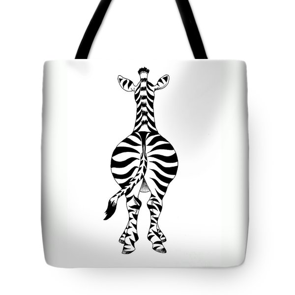 Tote Bag featuring the painting Zebra by Annemeet Hasidi- van der Leij
