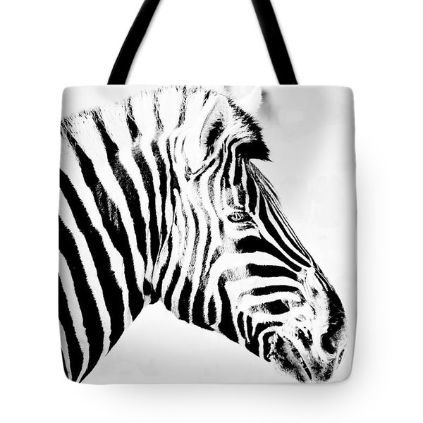 Tote Bag featuring the photograph Zebra Art by Werner Lehmann