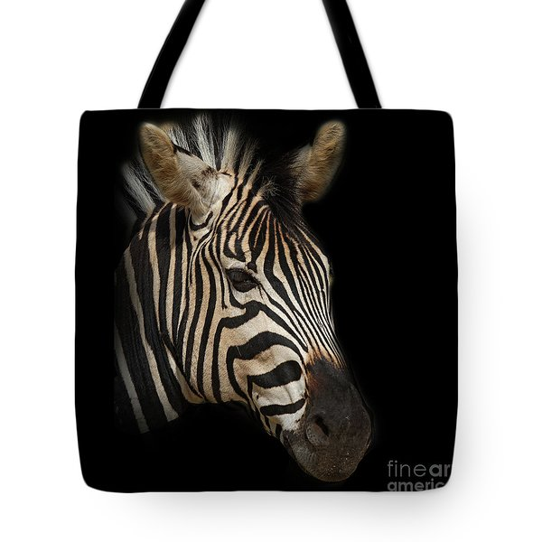 Zebra Tote Bag by Barbara Dudzinska