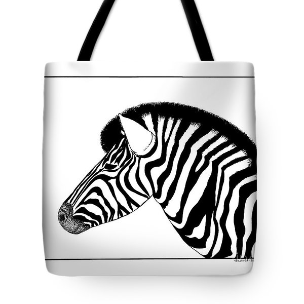 Zebra Tote Bag