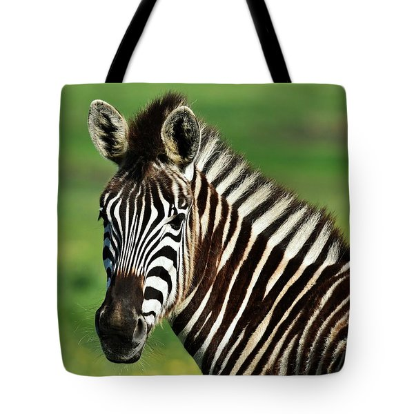 Zebra Close Up Tote Bag by Werner Lehmann