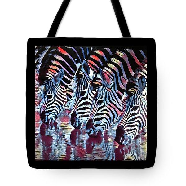 Zebra Dazzle Tote Bag
