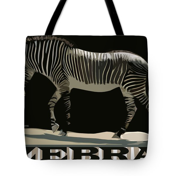 Zebra Design By John Foster Dyess Tote Bag