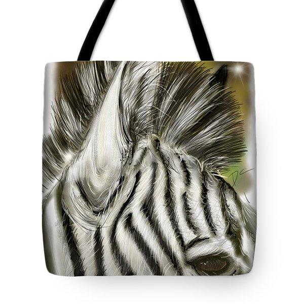 Zebra Digital Tote Bag