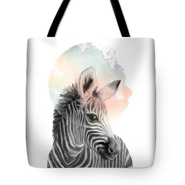 Zebra // Dreaming Tote Bag by Amy Hamilton