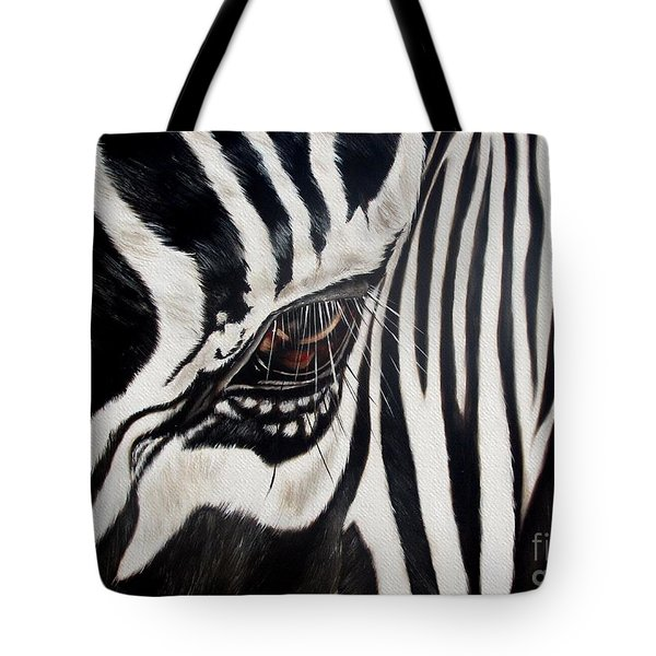 Zebra Eye Tote Bag