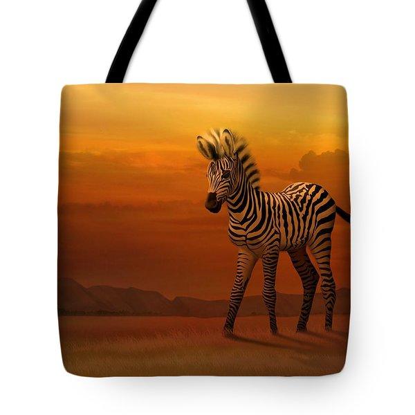 Zebra Fawn  Tote Bag