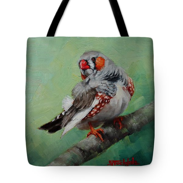 Zebra Finch Miniature Tote Bag by Margaret Stockdale