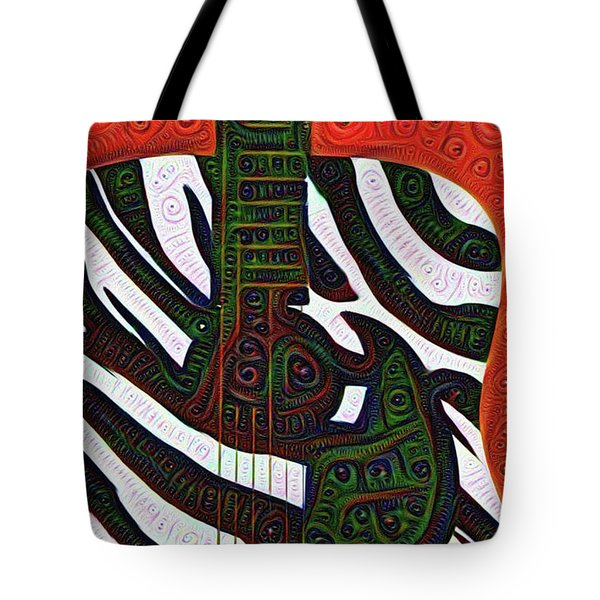 Zebra Guitar Rendering Tote Bag by Bill Cannon