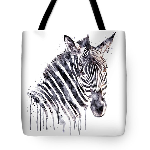 Zebra Head Tote Bag