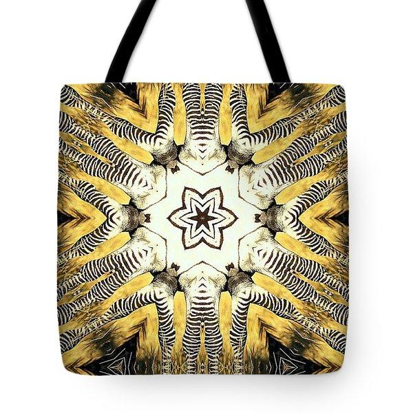 Zebra I Tote Bag by Maria Watt