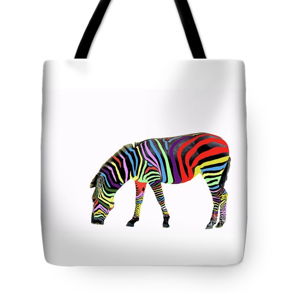Tote Bag featuring the photograph Zebra In My Dreams by Bonnie Barry