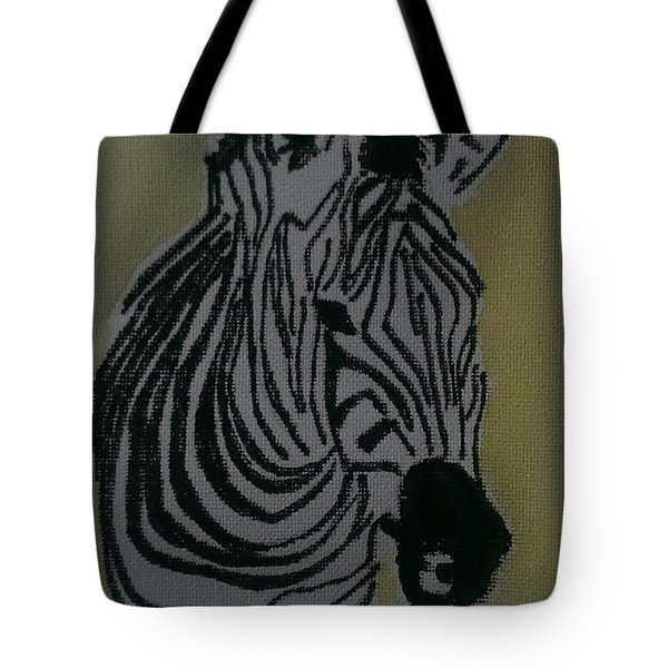 Zebra Tote Bag by Judi Goodwin