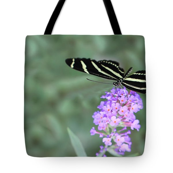 Zebra Longwing Butterfly  Tote Bag