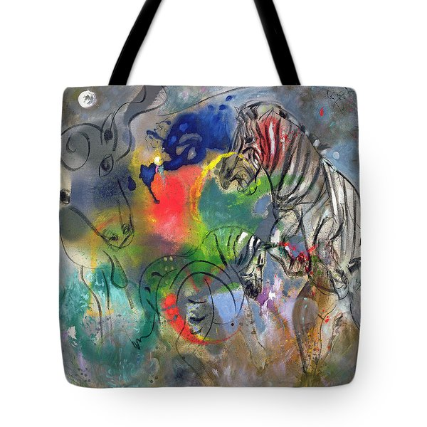 Zebra Mares Tote Bag by Jane Deakin