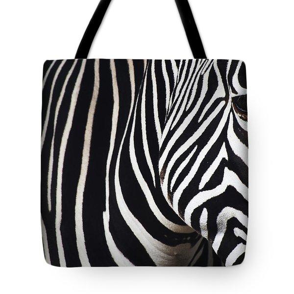 Zebra Close-up Tote Bag
