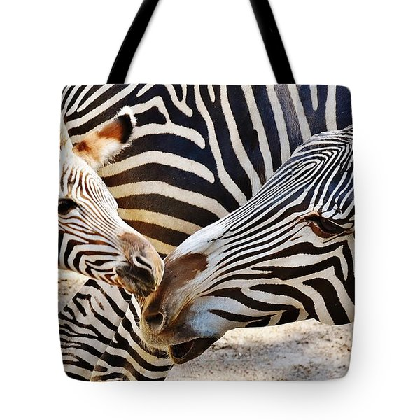 Zebra Mother And Calf Tote Bag