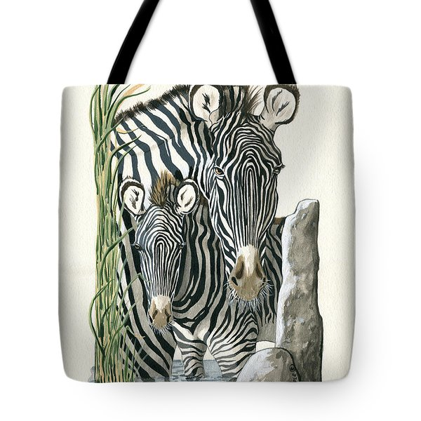 Zebra Mother And Colt Protect Our Children Painting Tote Bag