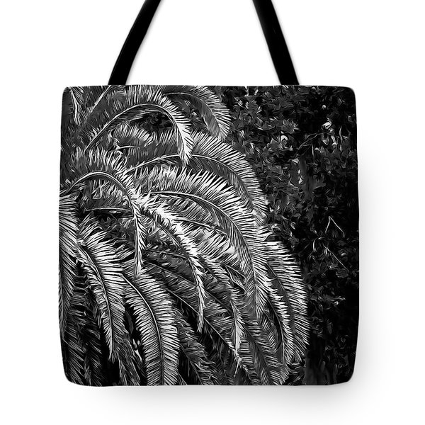 Tote Bag featuring the photograph Zebra Palm by DigiArt Diaries by Vicky B Fuller