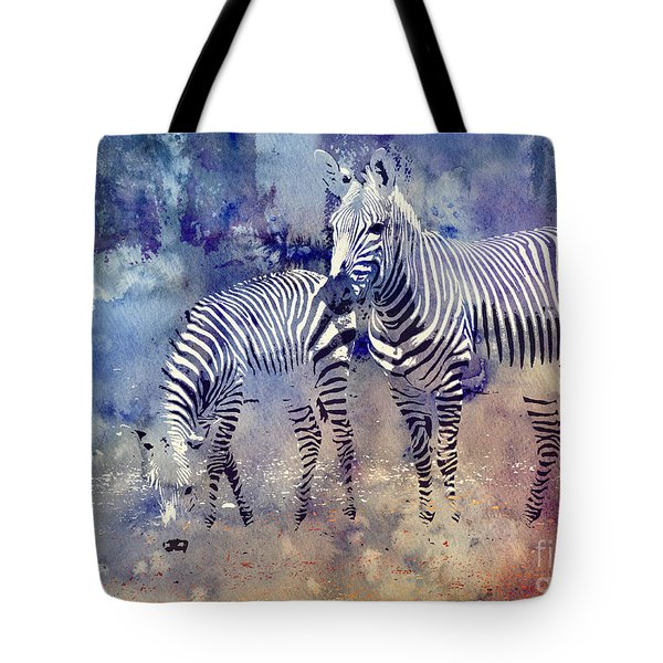 Zebra Paradise Tote Bag