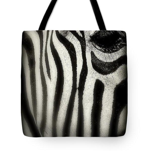 Zebra Tote Bag by Perry Webster