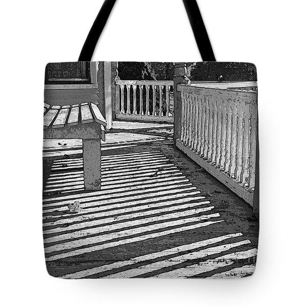 Zebra Porch Tote Bag by Betsy Zimmerli