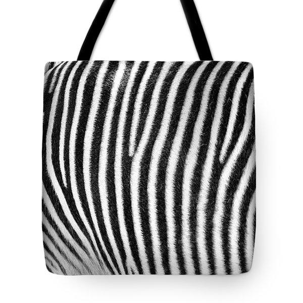 Zebra Print Black And White Horizontal Crop Tote Bag
