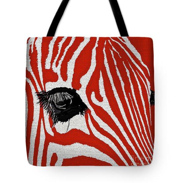 Zebra Red Tote Bag
