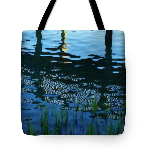 Tote Bag featuring the photograph Zebra Reflections by Phil Mancuso