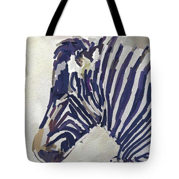 Zebra Resting Tote Bag