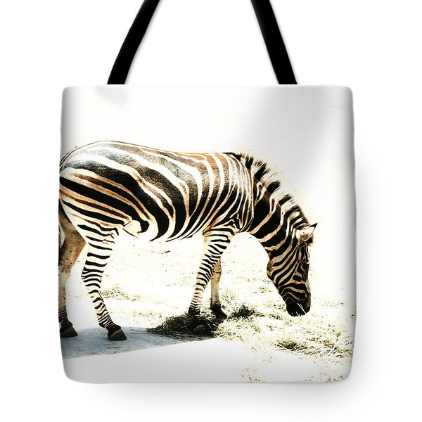 Tote Bag featuring the photograph Zebra Stripes by Stephen Mitchell