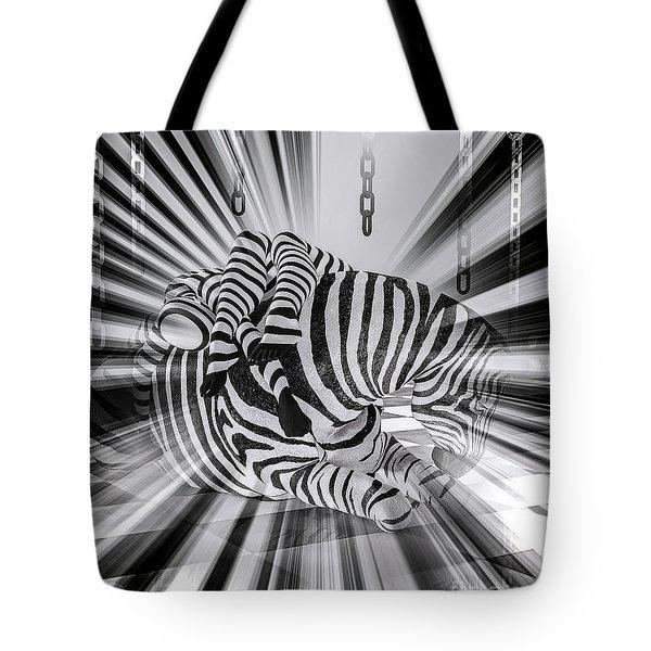Zebra Time Tote Bag