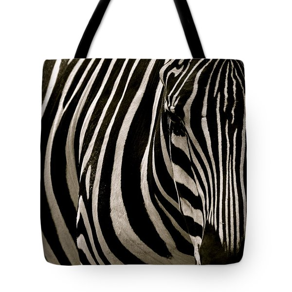 Zebra Up Close Tote Bag