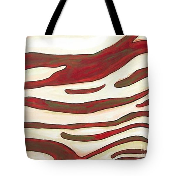 Zebra Zone - Color On White Tote Bag