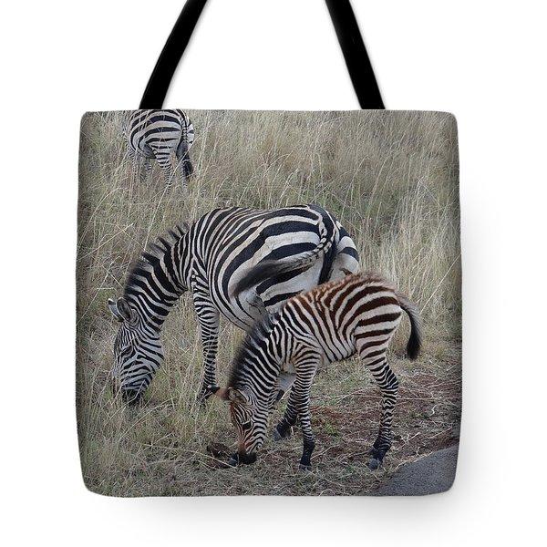 Zebras In Kenya 1 Tote Bag