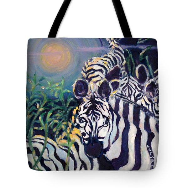 Zebras On The Savanna Tote Bag